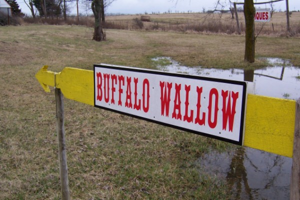 Buffalo Wallow road sign