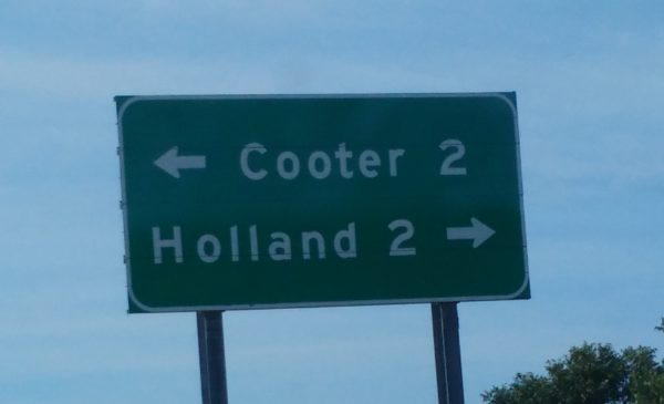 Holland Road Sign